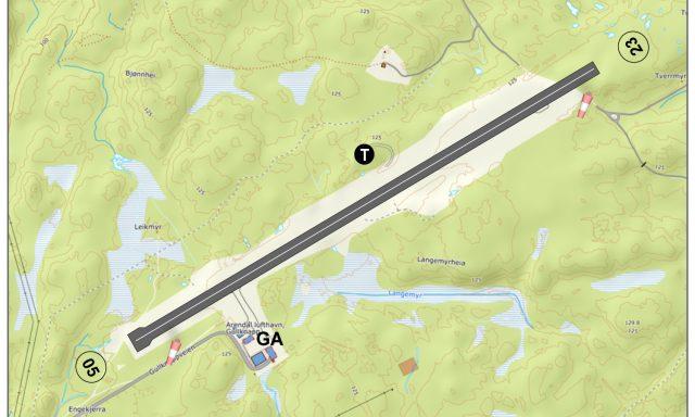 Arendal lufthavn, Gullknapp