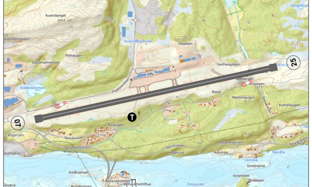 Kristiansund lufthavn, Kvernberget